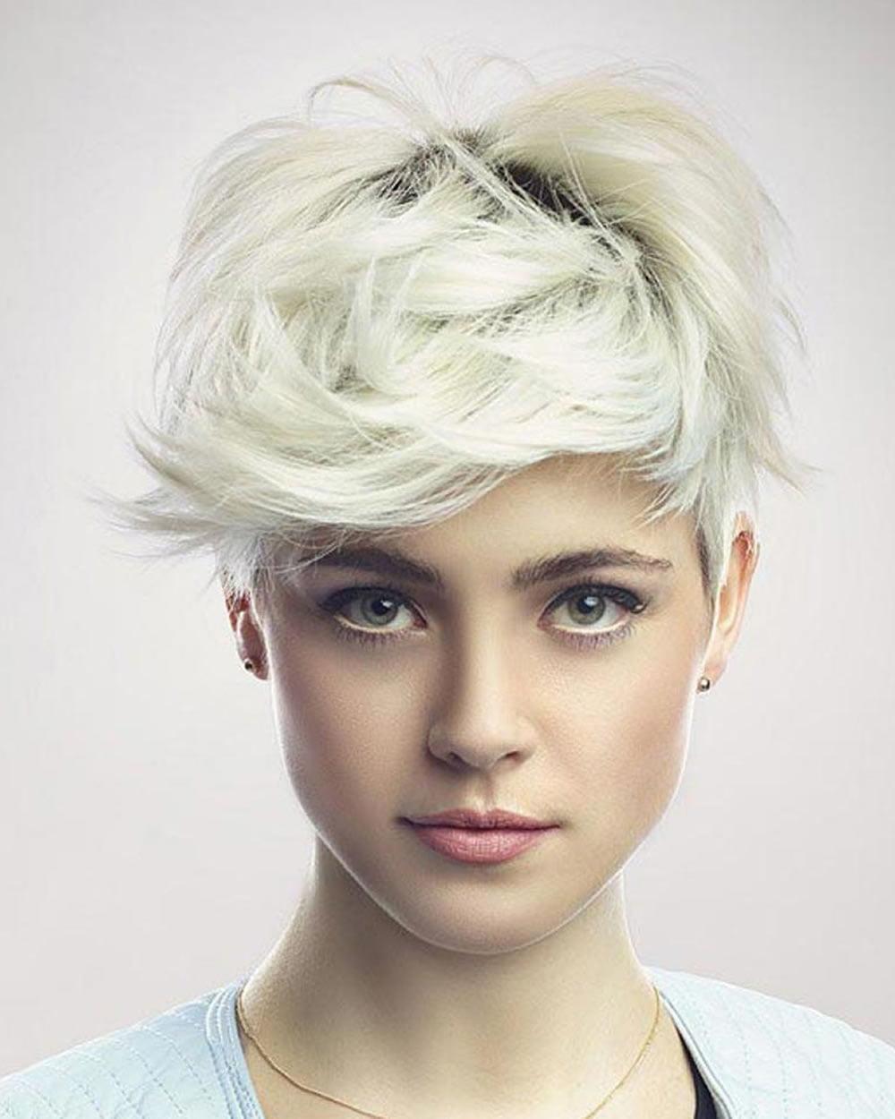 Light Blonde Pixie Haircuts for Fine Hair 2018-2019