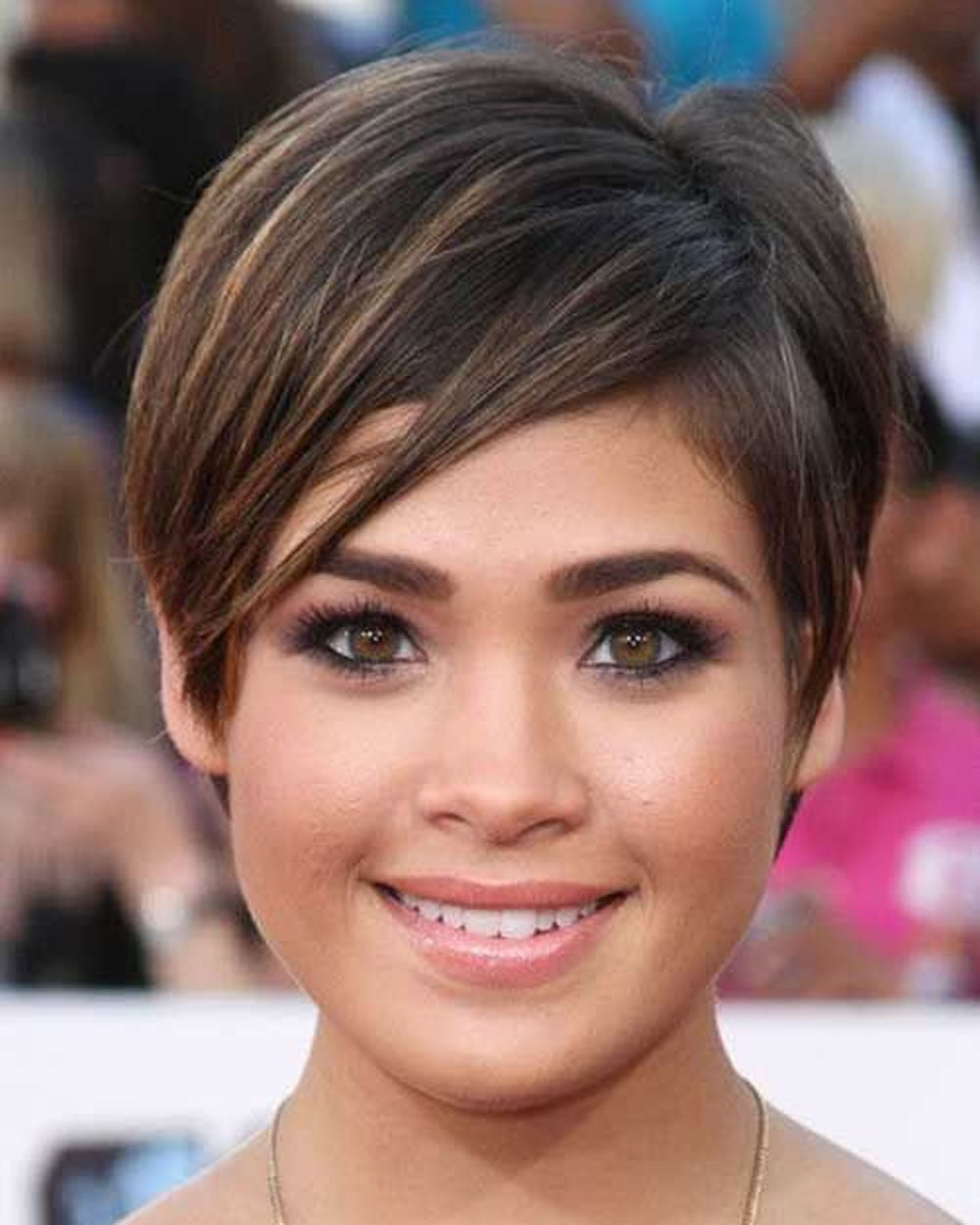 Hairstyles For Round Faces: Pixie Hairstyles Fine Hair For Round Face 2018-2019