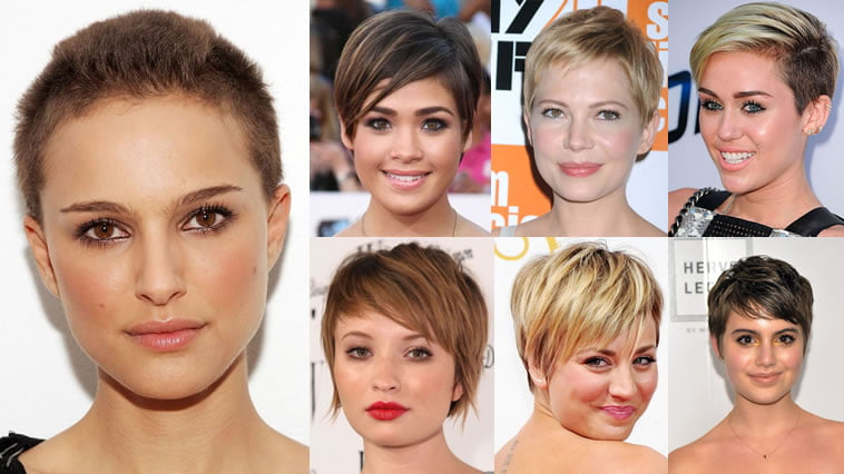 2019 Hairstyles For Round Faces: Pixie Hairstyles Fine Hair For Round Face 2018-2019