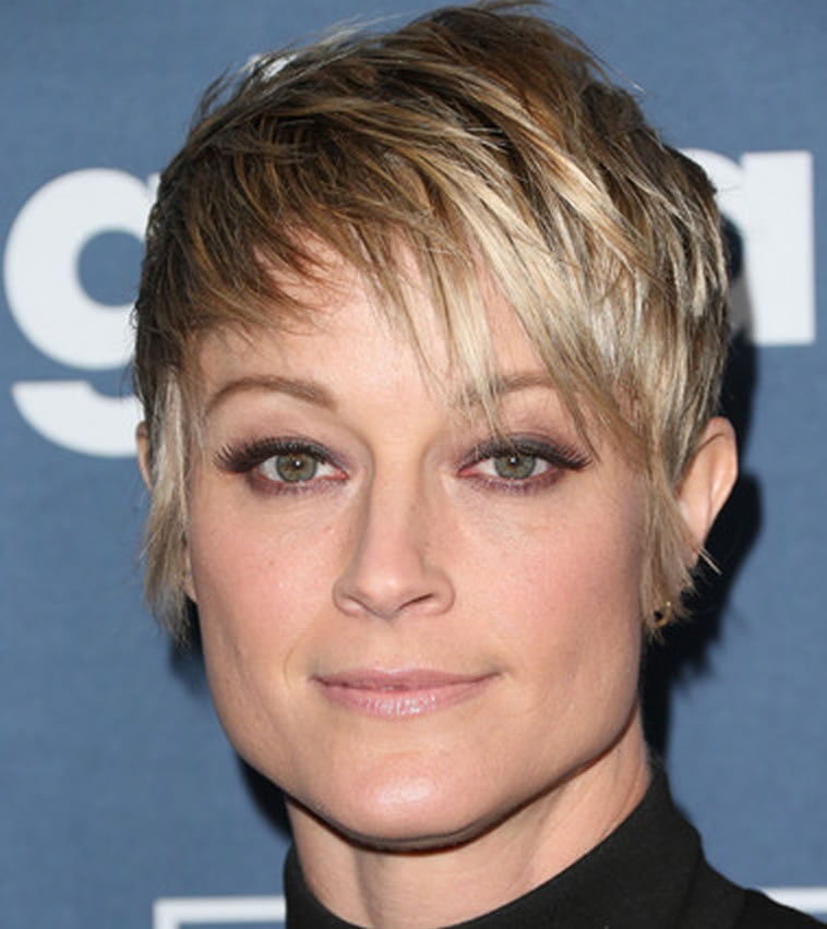 ombre layered short haircut
