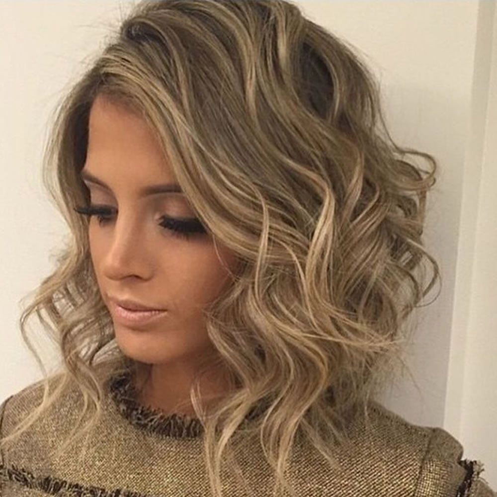 Medium Hairstyles: Curly & Wavy Short Hairstyles And Haircuts For Ladies 2018