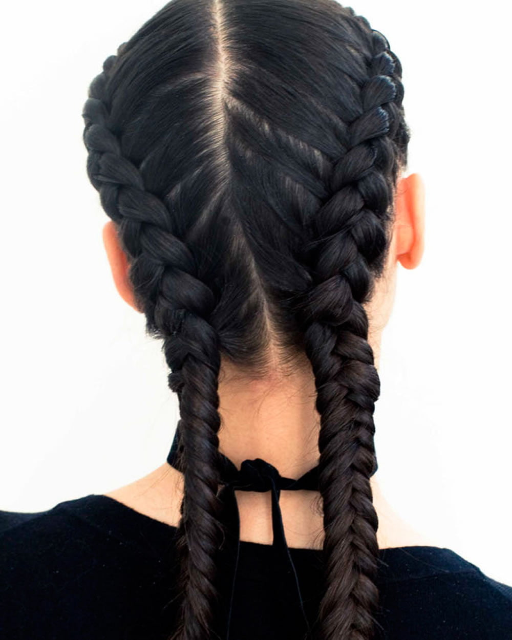 2018 Double Braids Long Hair French Braids