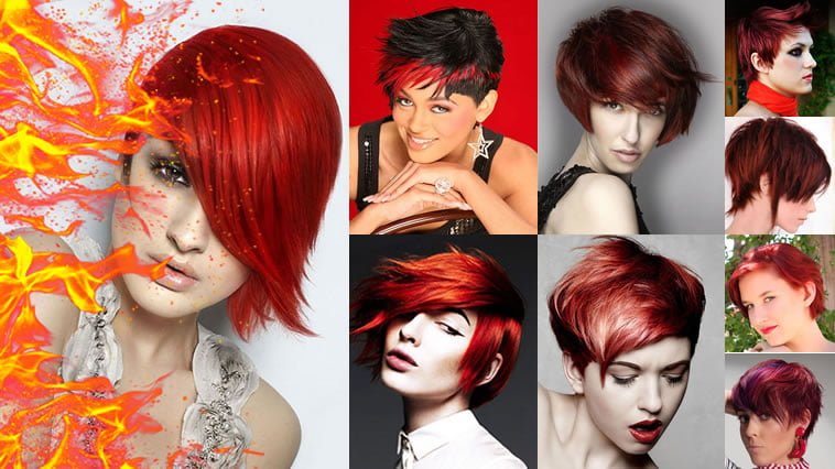2018 Red Hairstyles Red Short Hair Ideas Colours For Ladies