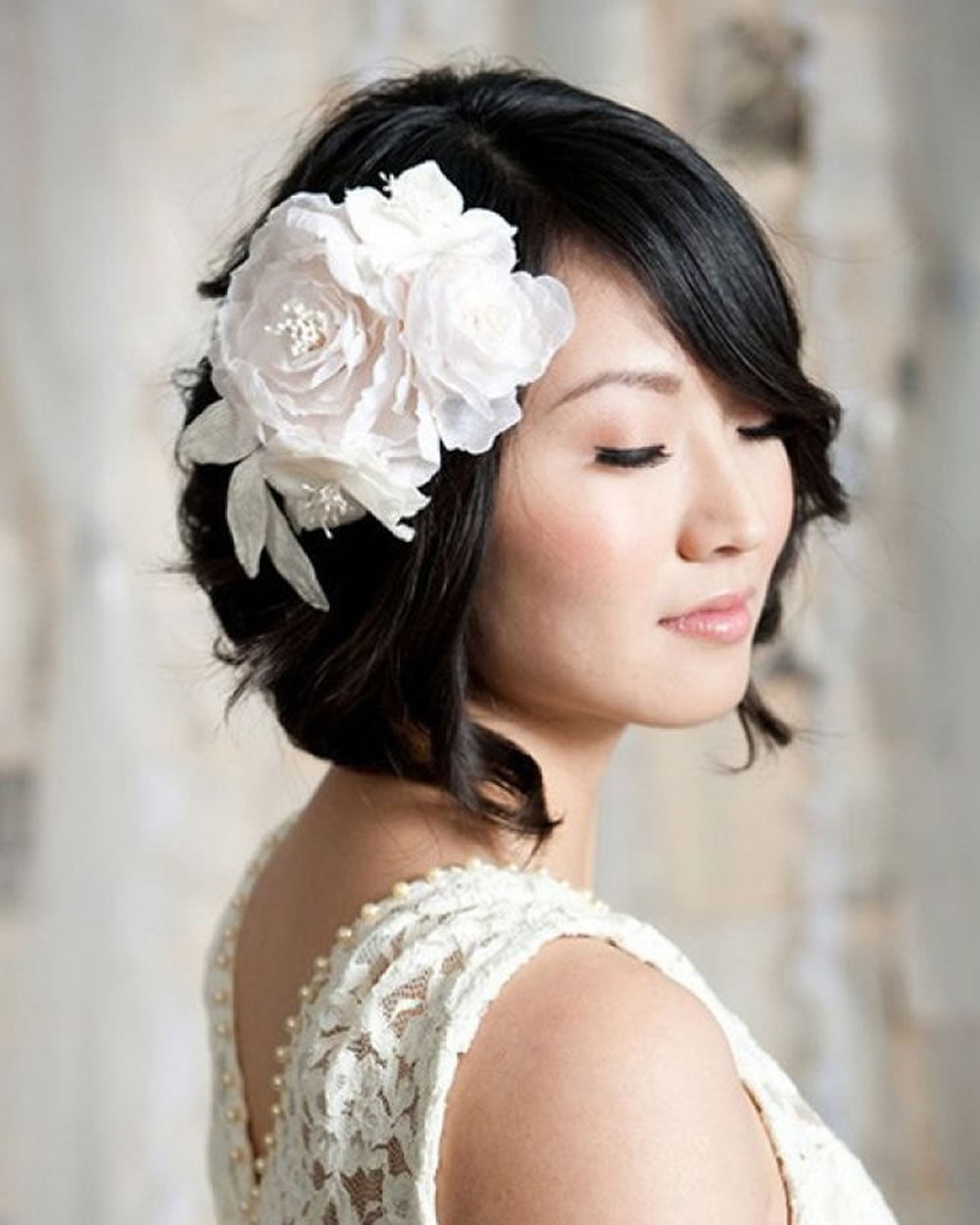 2018 Wedding Hairstyles And Make Up Guide For Short Hair Page 2