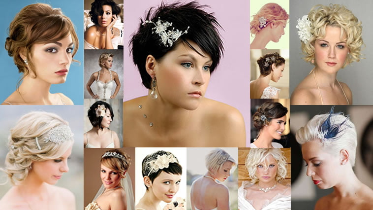 Hair Styles For Short Hair Brides: 2018 Wedding Hairstyles And Make Up Guide For Short Hair