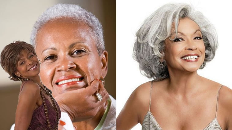 Extra Short Hairstyles & Pixie Haircuts for Afro-American Older Women Over 50