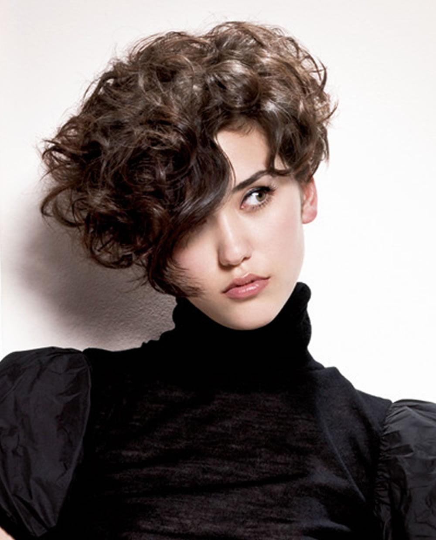 Asymmetrical Short Curly Hair Styles 2018-2019 & Short Bob Haircuts - Page 4 - HAIRSTYLES