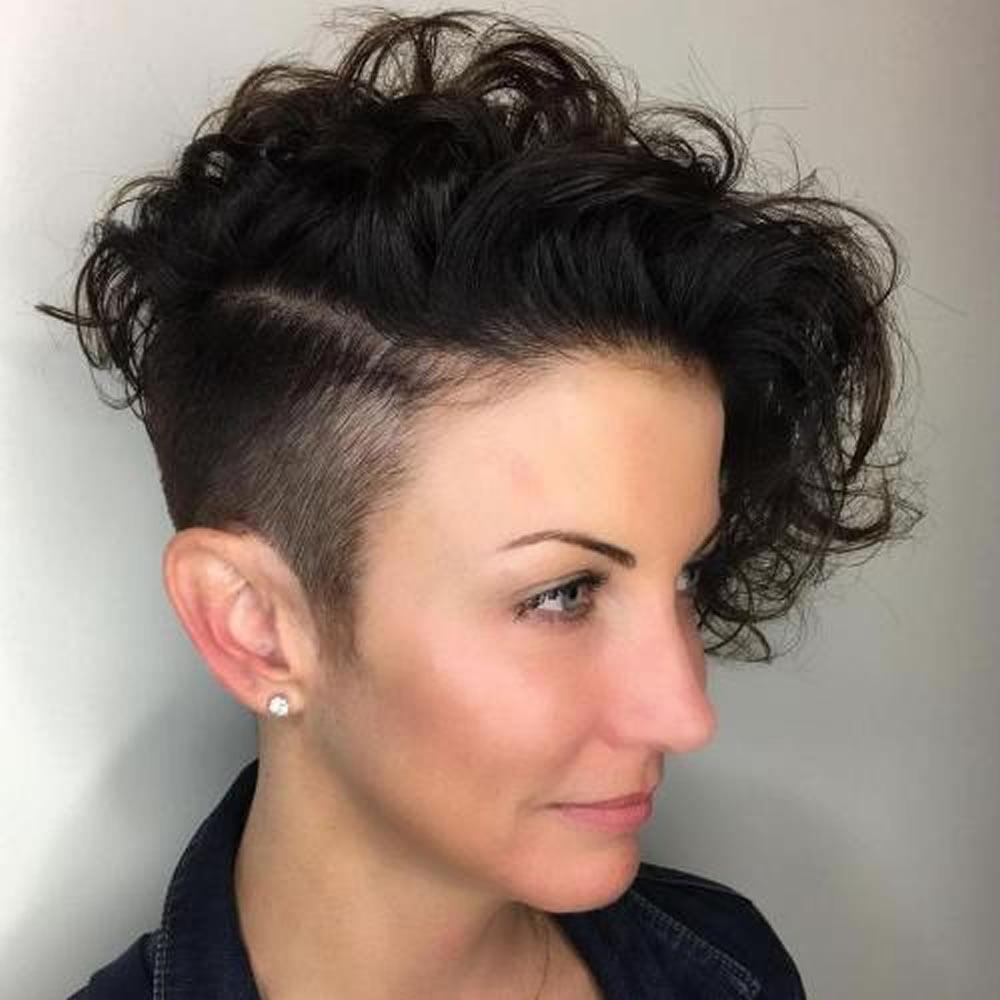 Asymmetrical Short Curly Hair Styles 2018 2019 Short Bob Haircuts