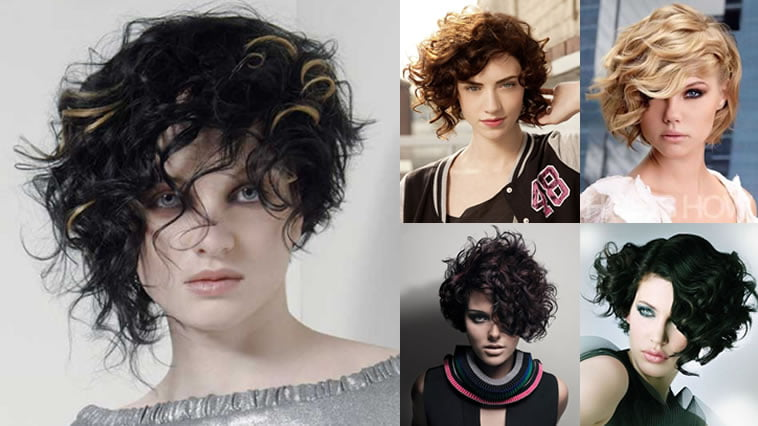 Asymmetrical Short Curly Hair Styles 2018-2019 & Short Bob