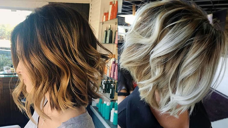 Hair Styles For Short Hair With Color: Balayage Short Bob Hairstyles & Haircuts For 2018