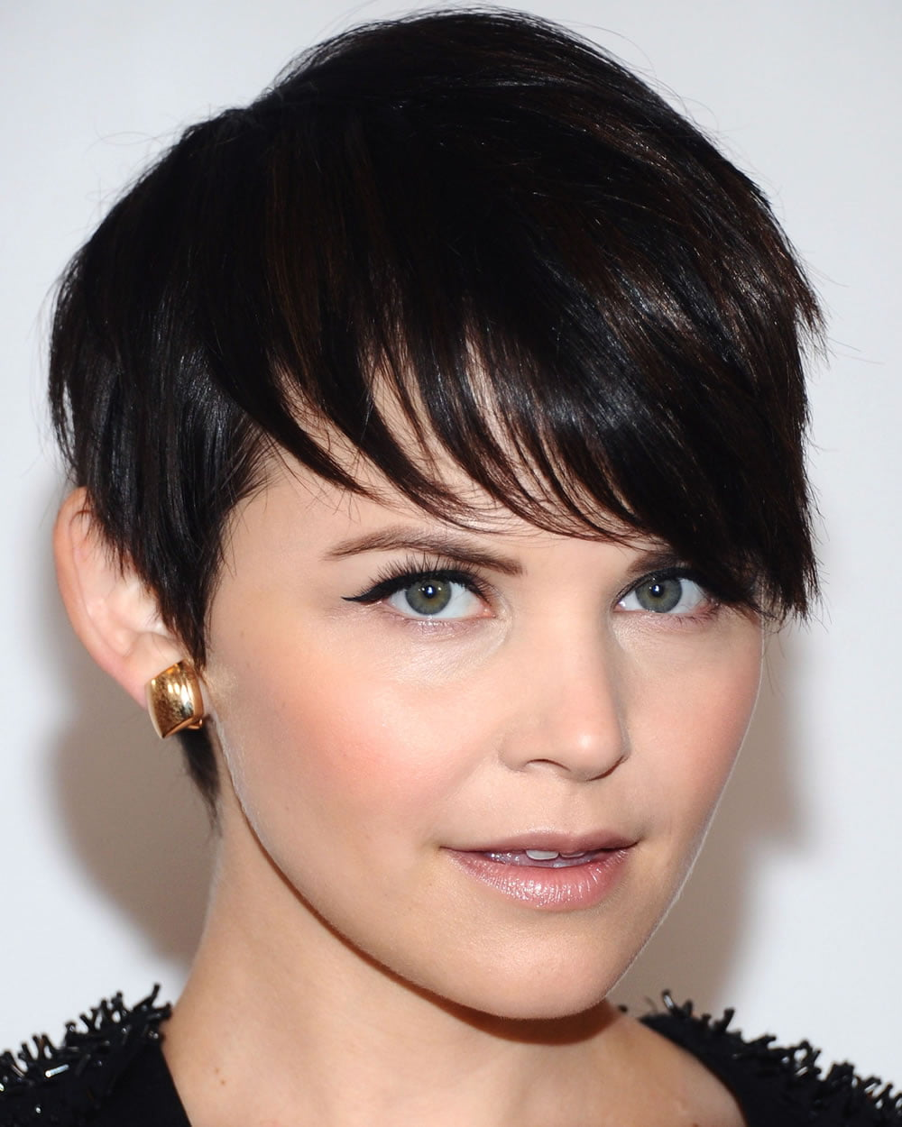 Black Hair Short Pixie Hairstyles for Diamond Faces