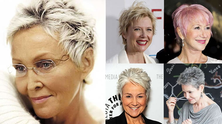 Pixie Short Haircuts For Older Women Over 50 & 2018-2019