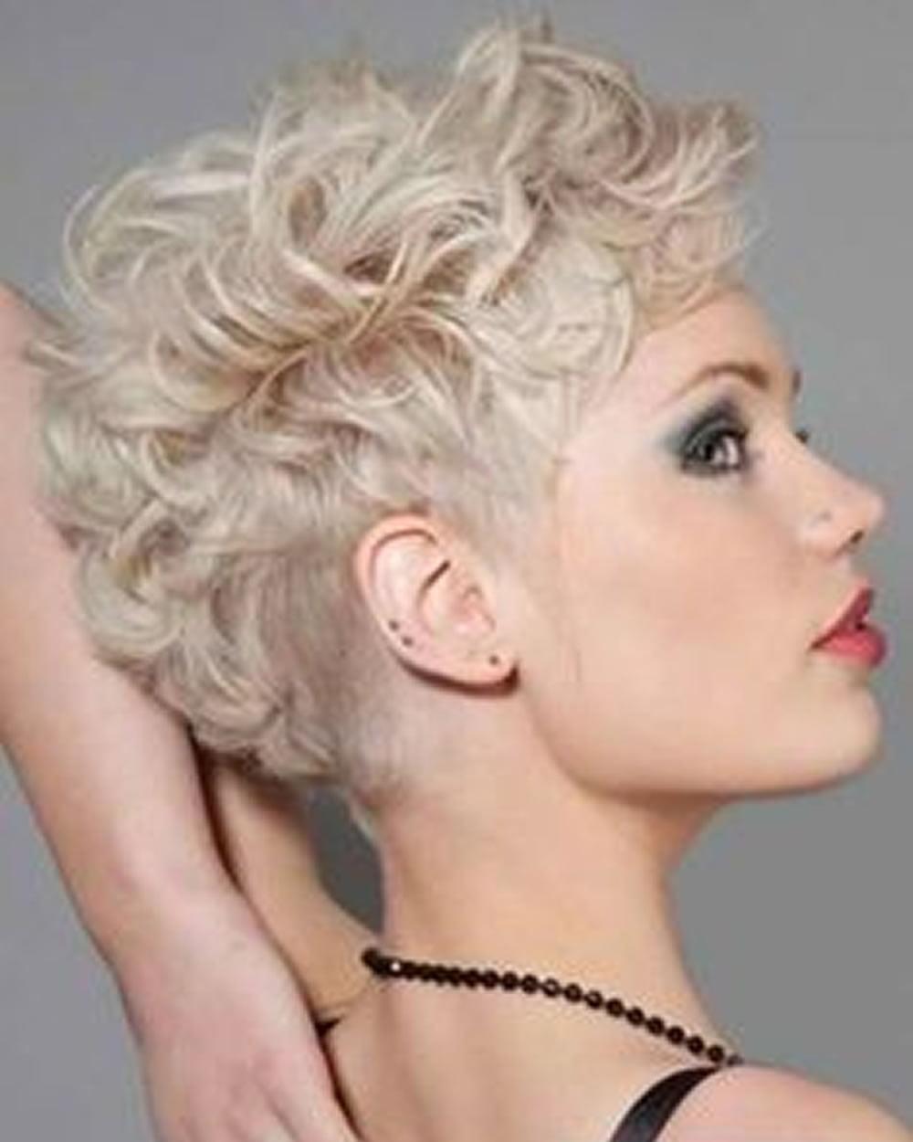 2018 Undercut hair design for girls - Pixie hairstyle +Short haircut image