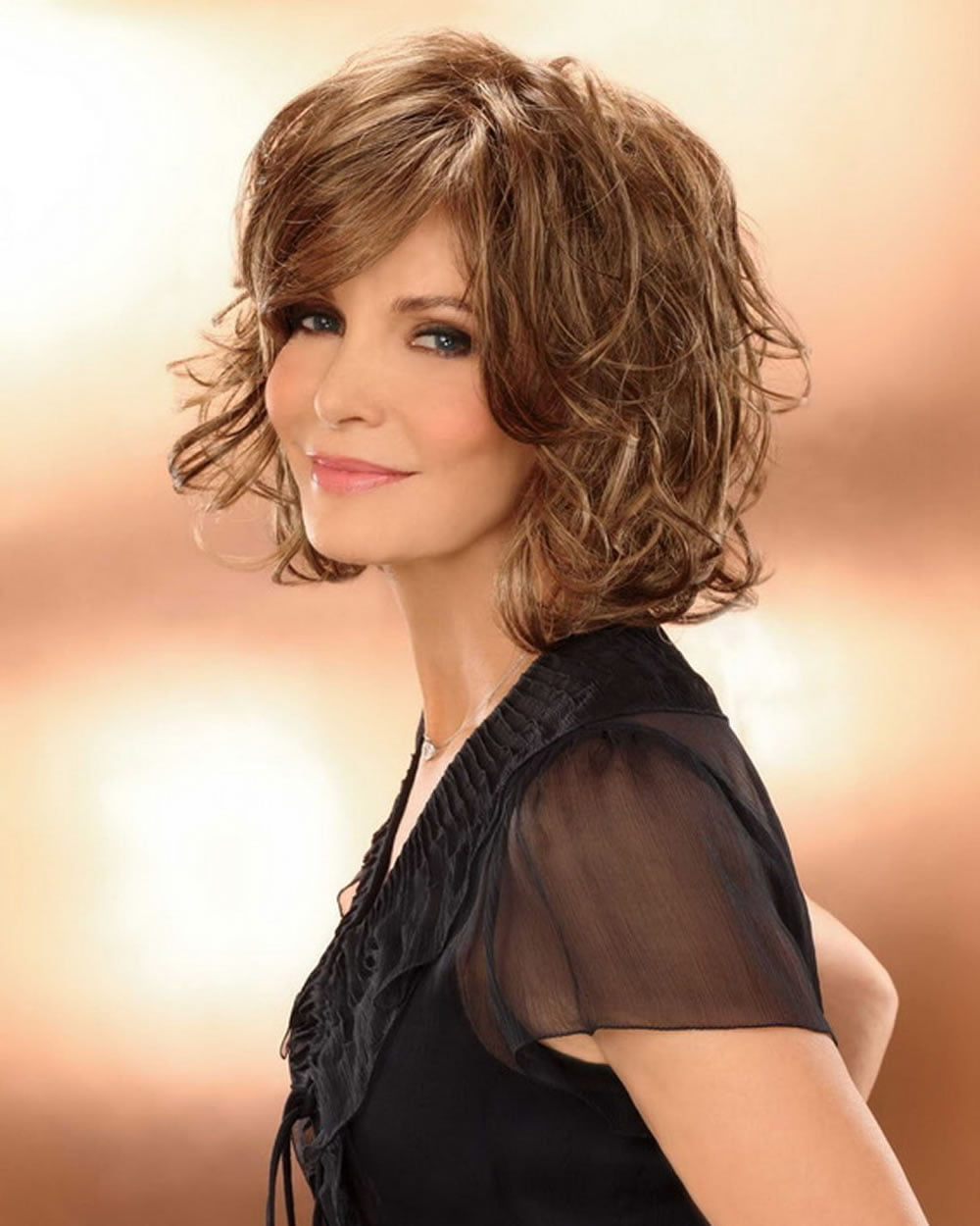 Trendy Wavy Amp Curly Haircuts For Older Women Short