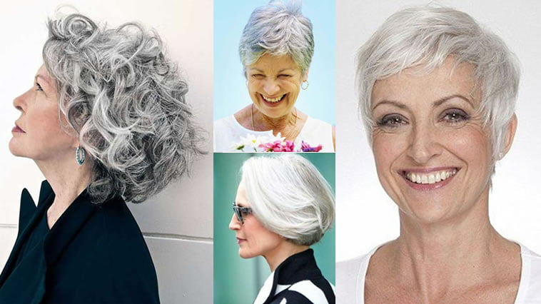 Short Gray Hairstyles For Older Women Over 50 Gray Hair Colors