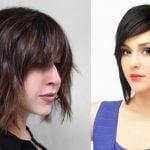 Short Bob Haircuts with Bangs and Layered Bob Hairstyles +Hair Colors 2018-2019