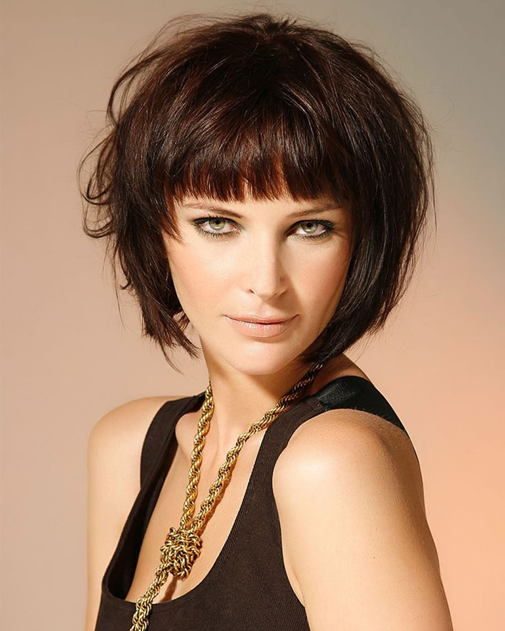 haircuts with bangs 30 best bob haircuts with bangs and layered bob 5776