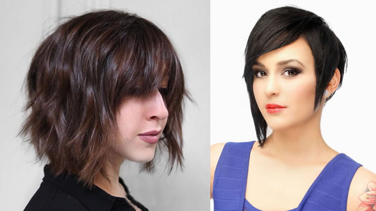 Short Bob Haircuts With Bangs And Layered Hairstyles Hair Colors 2018 2019