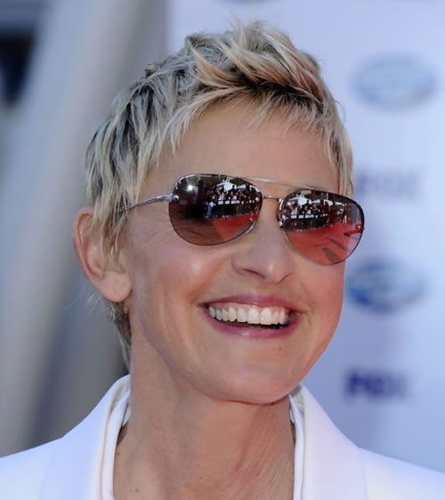 Balayage Short Pixie Hairstyles for Older Women