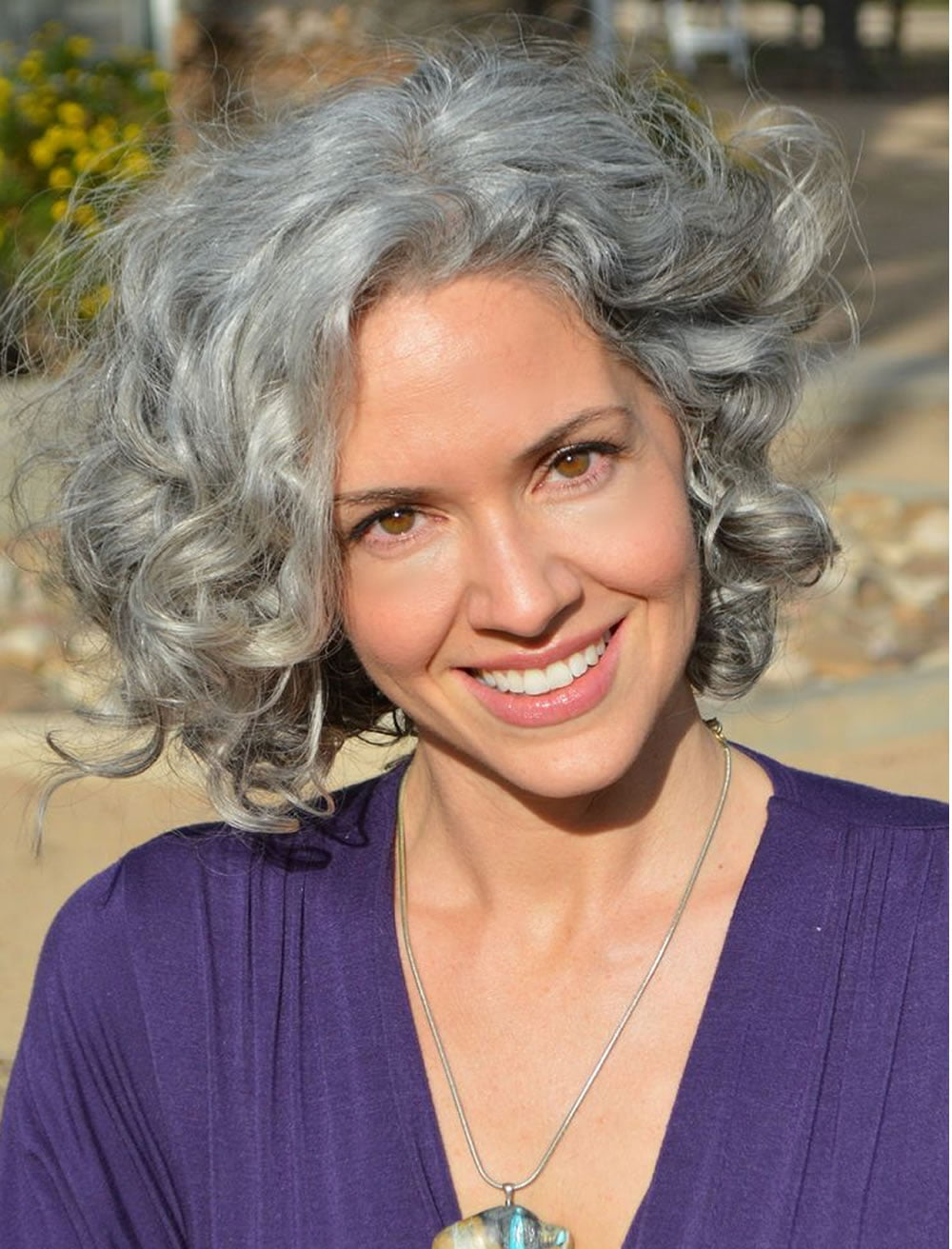 wavy gray hair styles curly hairstyles for 50 best 3673