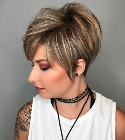 Layered Haircuts For Short Hair 2018 Hair Colors For Women