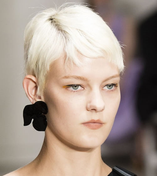 Light Blonde Pixie Haircut for Long Faces