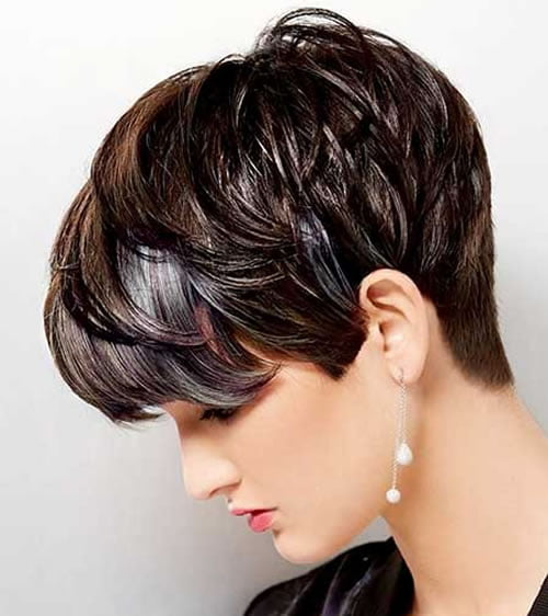 Ombre Layered Short Hairstyles for Women