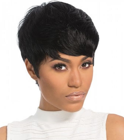 Pixie Hairstyles for Black Women with Diamond Faces
