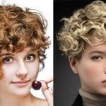 Short Curly Asymmetrical Bob Haircut for Short Hair