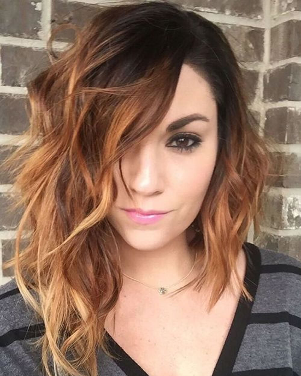Short Curly Asymmetrical Bob Haircut for Short Hair 2018 ...