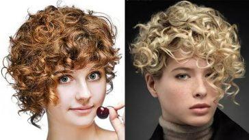 Short Curly Asymmetrical Bob Haircut for Short Hair