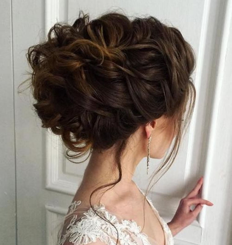 Updo Hairstyles For Wedding Guests: 2018 Wedding Updo Hairstyles For Brides