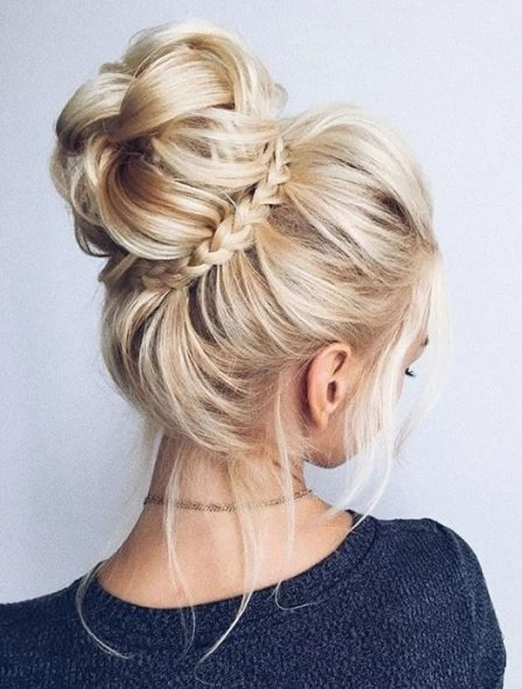 2018 Wedding Updo Hairstyles For Brides Hair Colors For Long Hair