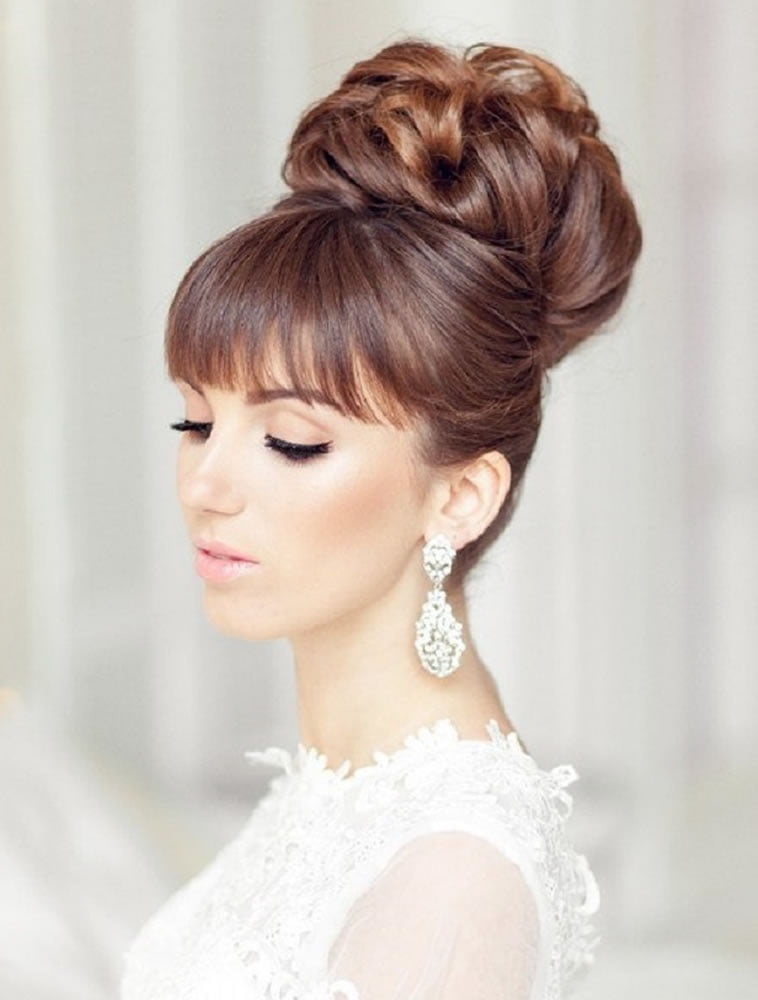 Color Styles For Long Hair: 2018 Wedding Updo Hairstyles For Brides
