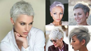 Grey Pixie Hair