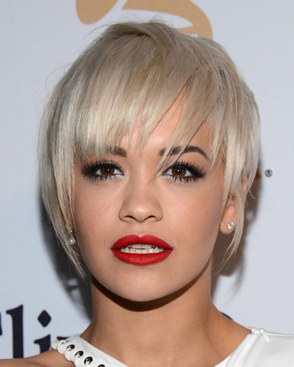 Rita Ora's Short Hairstyles (Pixie + Bob) For 2018