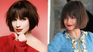 Short Bob Hair Cut With Bangs & New Hair Colors