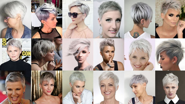 Gray Hair Colors For Short Hair Pixie And Bob Hairstyles Hairstyles