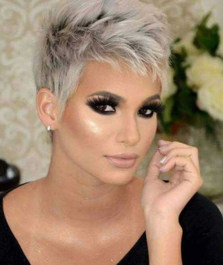Gray Hair Colors For Short Hair Pixie And Bob Hairstyles Page 2