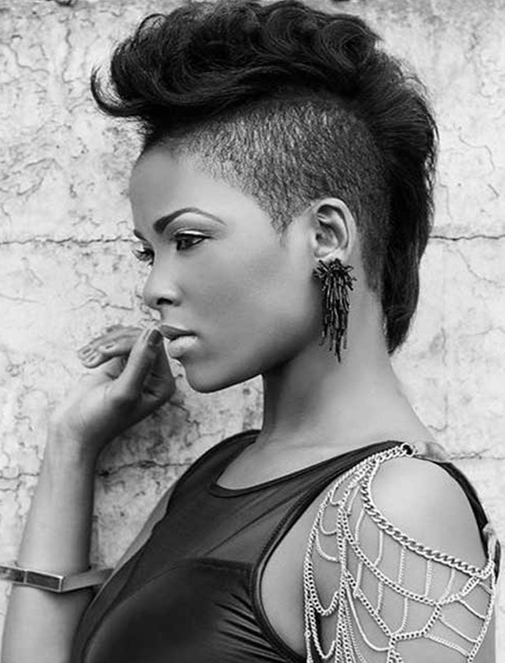 Mohawk black women hairstyles for summer 2018-2019