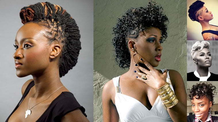 Mohawk black women hairstyles for summer 2018-2019