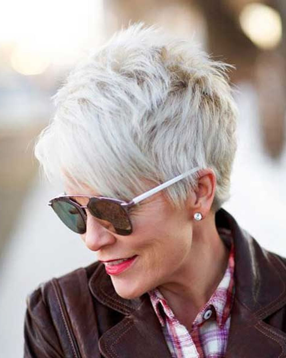 older women's pixie hairstyles 2019 and grey hair for short haircut
