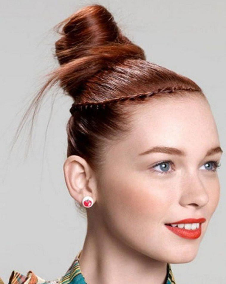 Prom Hair For Round Face How To Bun Hair Tutorial Hair Colour