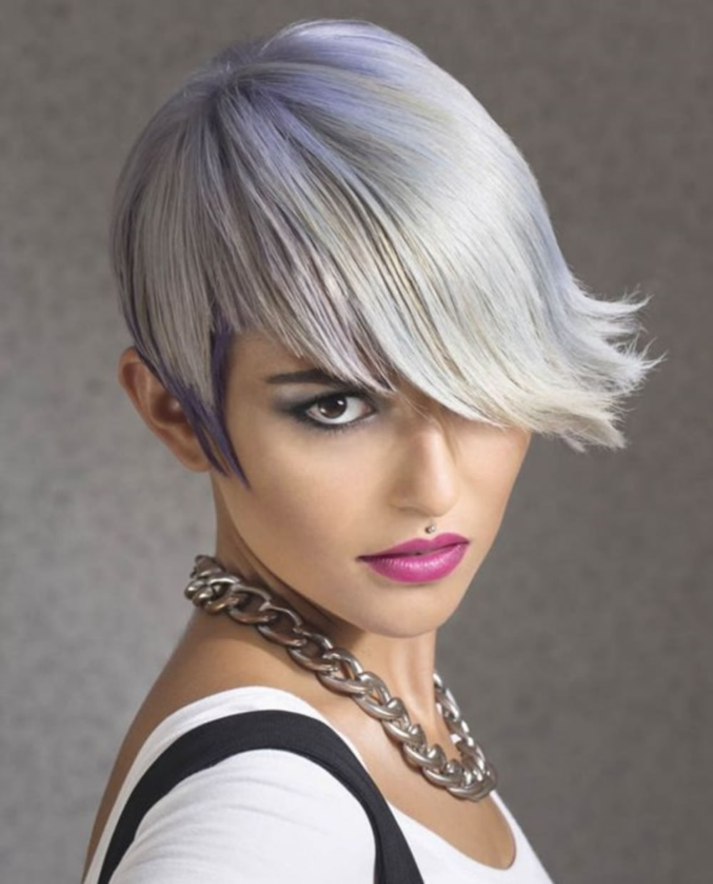 Short Haircut With Very Long Bangs For Women Hairstyles