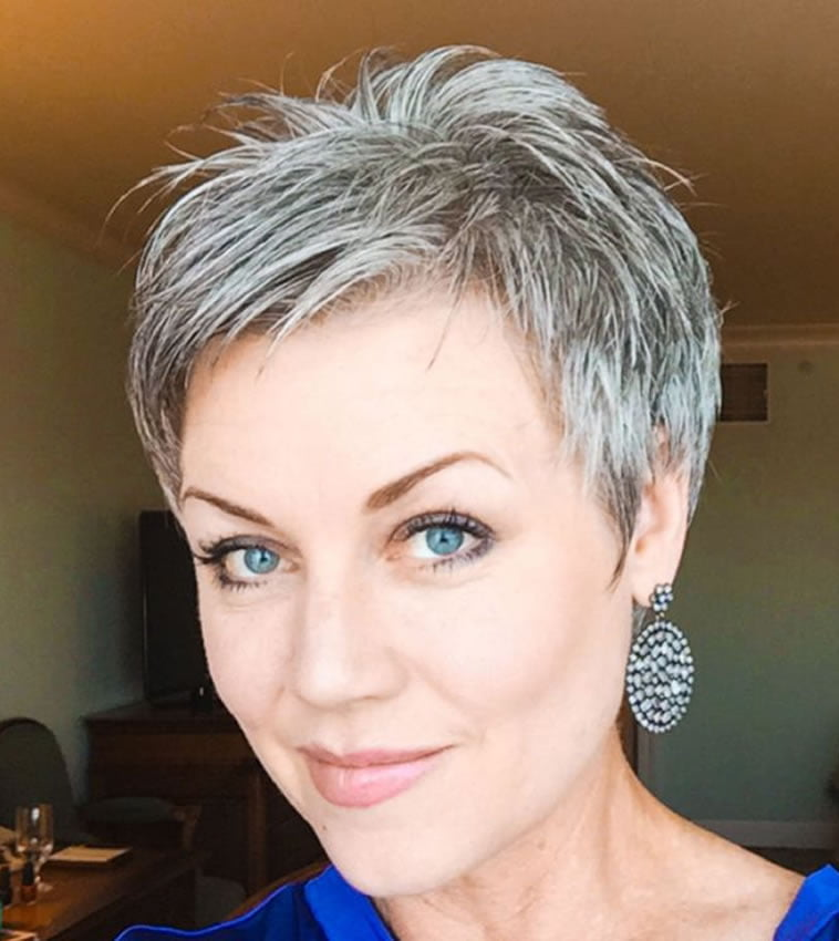 Gray Hair Colors For Short Hair Pixie And Bob Hairstyles Page 9