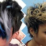 afro black women short hair