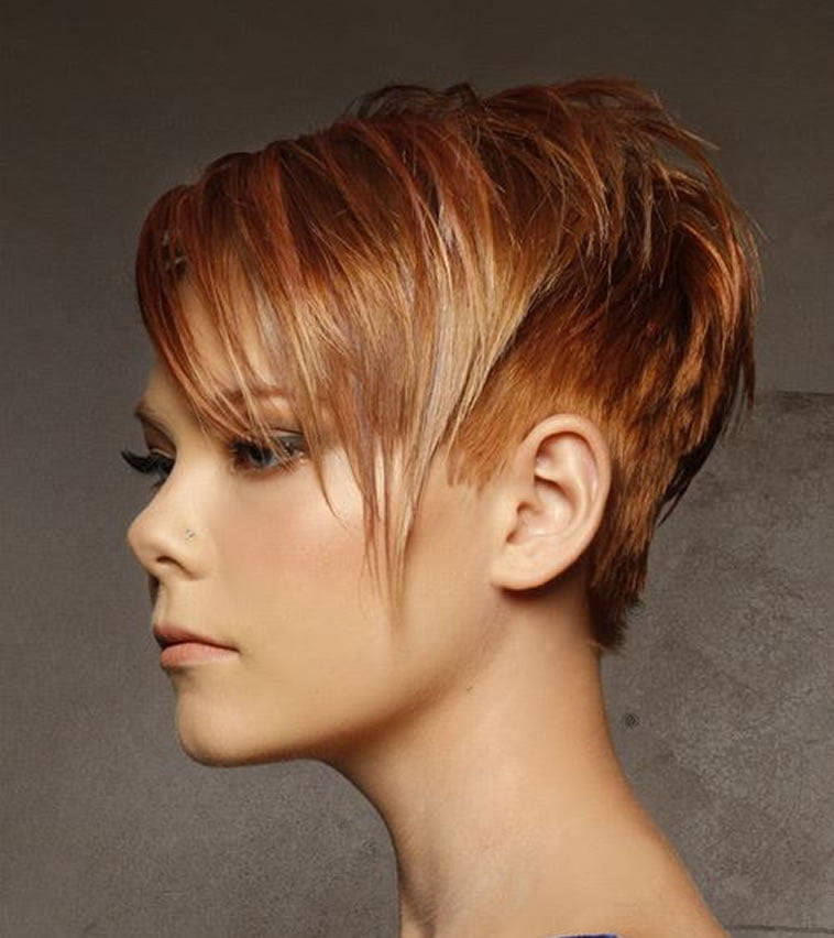 Asymmetrical short pixie