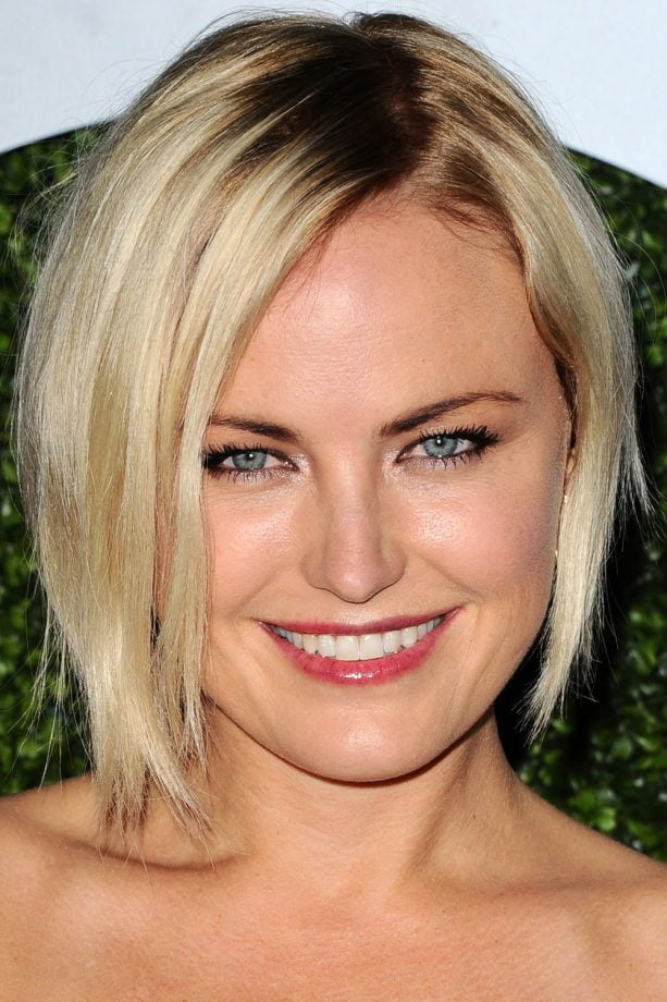 blonde hairstyle round face