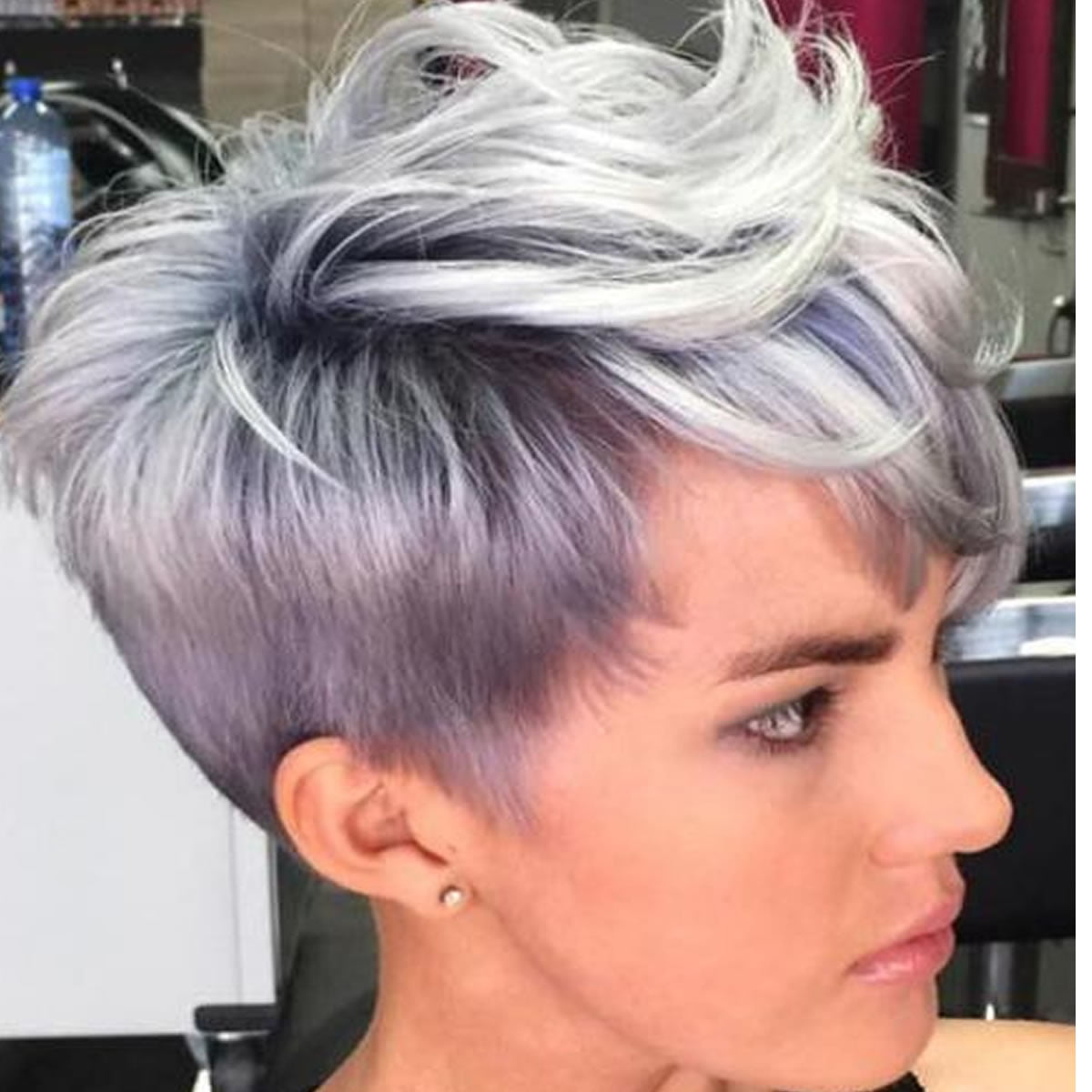 gray hair color short hairstyles