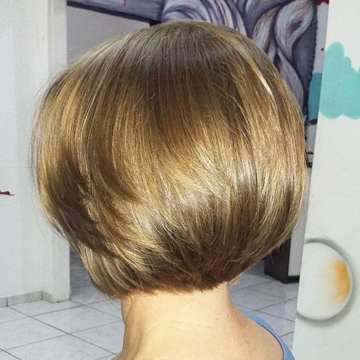 blonde short haircut